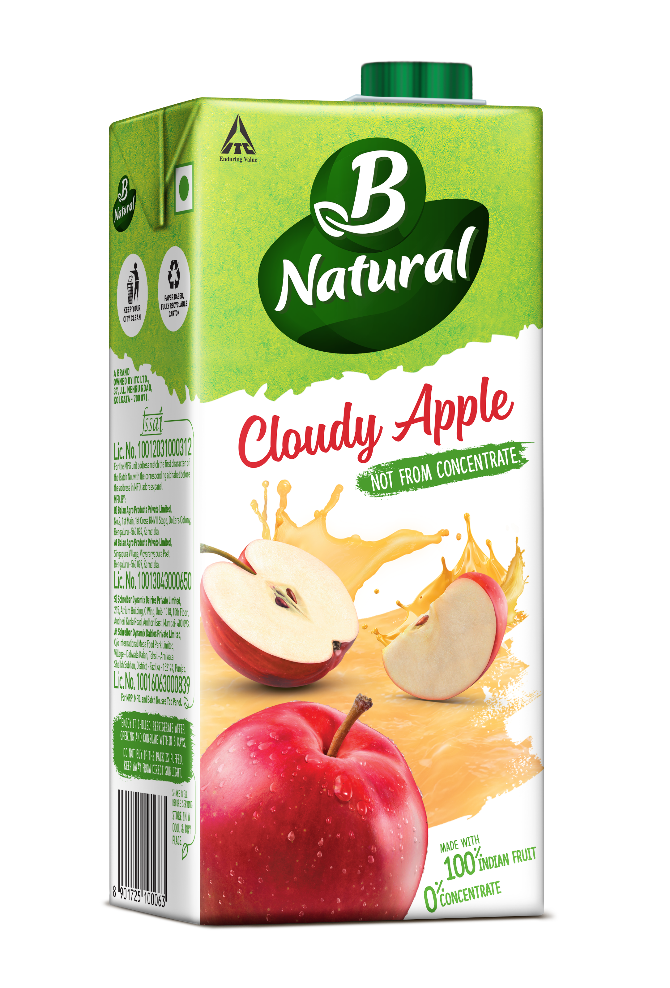 B Natural CLOUDY APPLE Drinks