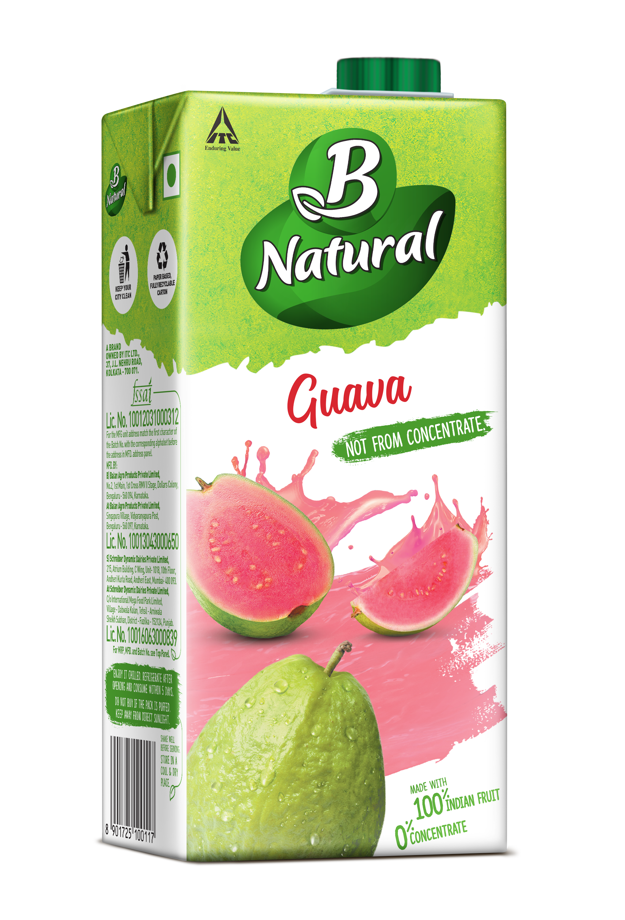 B Natural GUAVA Drinks