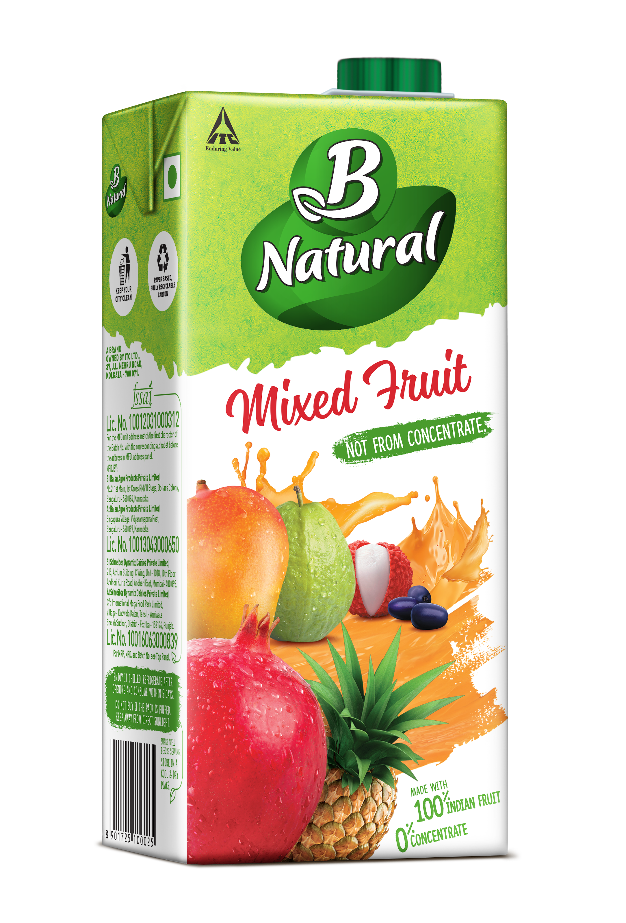 B Natural Mixed Fruit Drinks