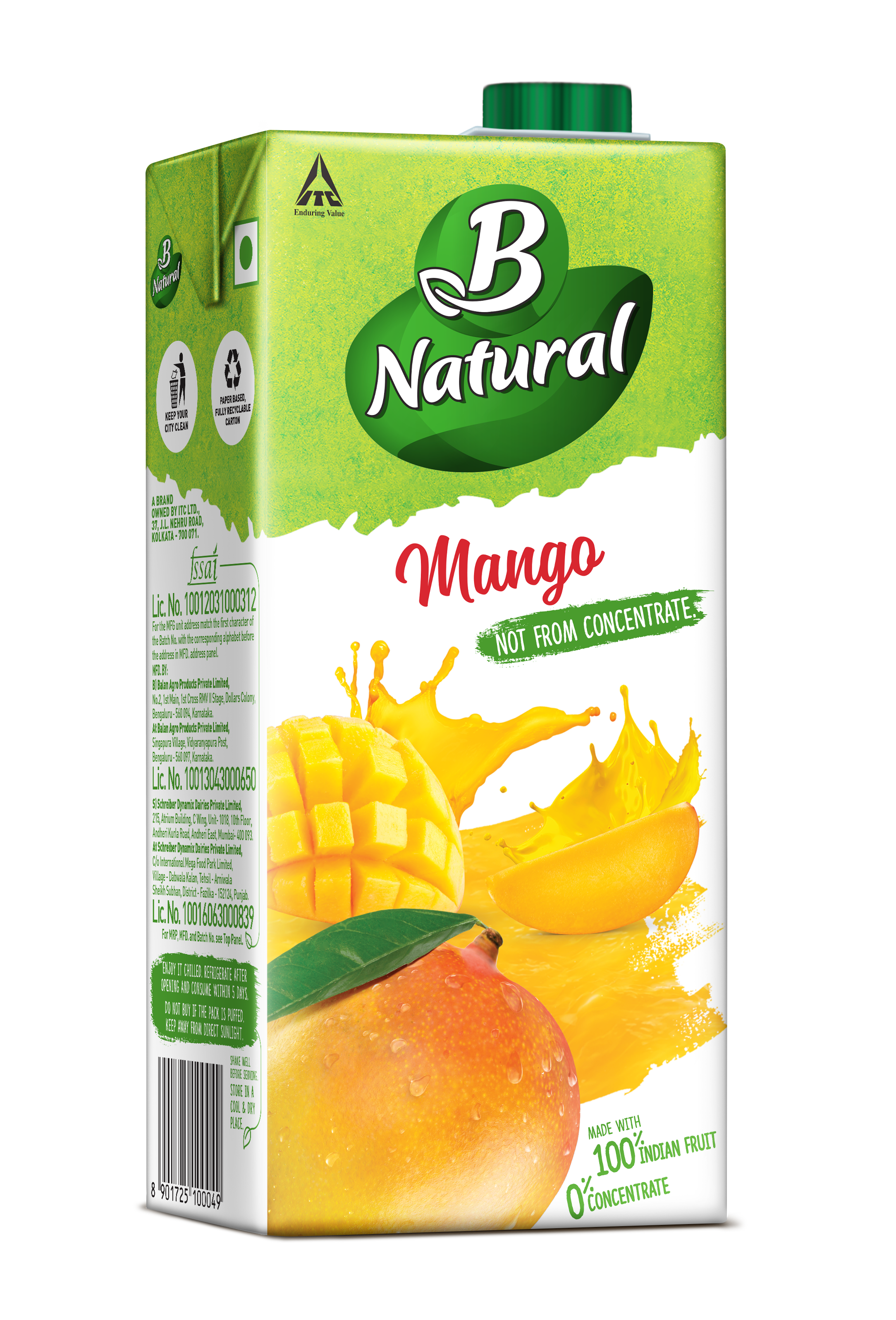 B Natural MANGO Drinks