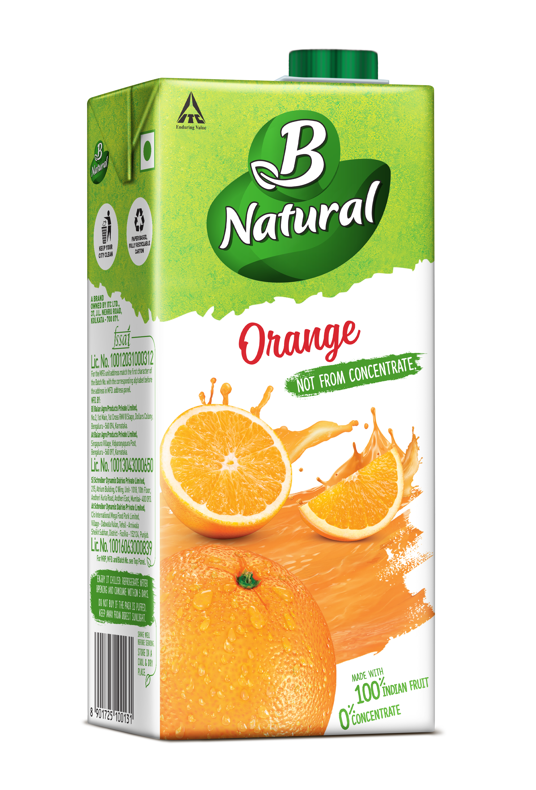 B Natural ORANGE Drinks