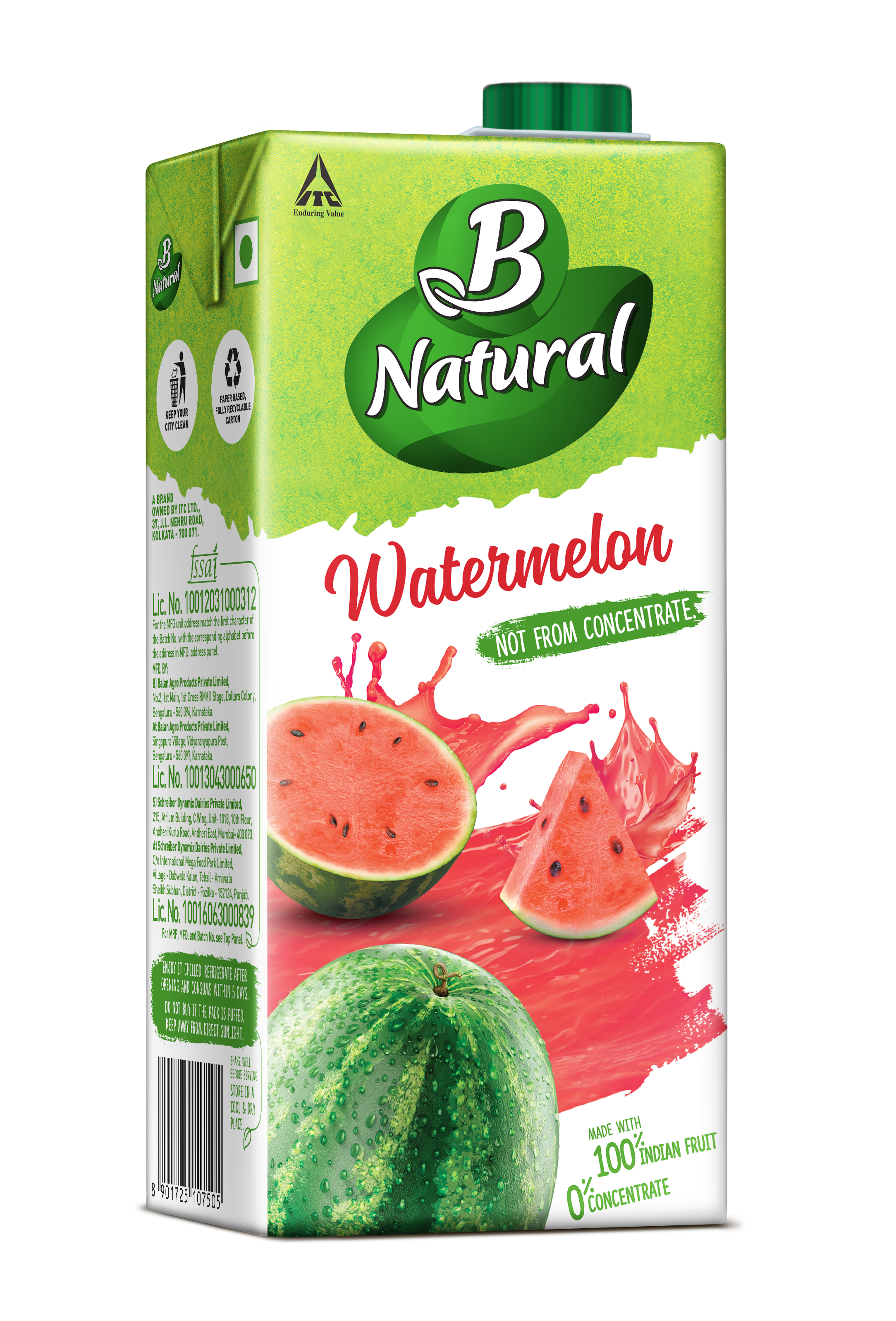 B Natural WATERMELON Drinks
